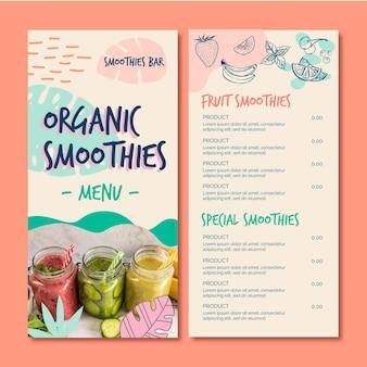 Organiczne menu restauracji naturalnego detoksu