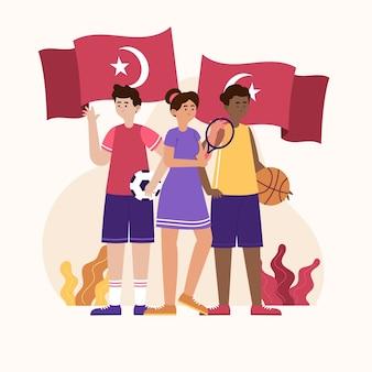 Organiczne mieszkanie upamiętniające dzień ataturka, młodzieży i sportu