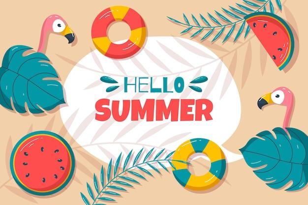 Organiczne mieszkanie witaj lato sprzedaż ilustracja