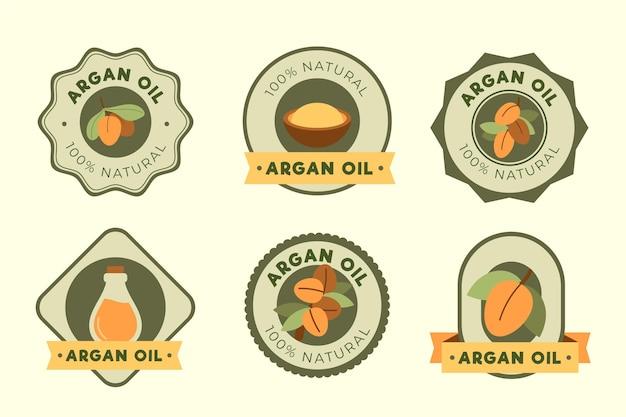 Organiczne płaskie opakowanie z plakietką olejku arganowego