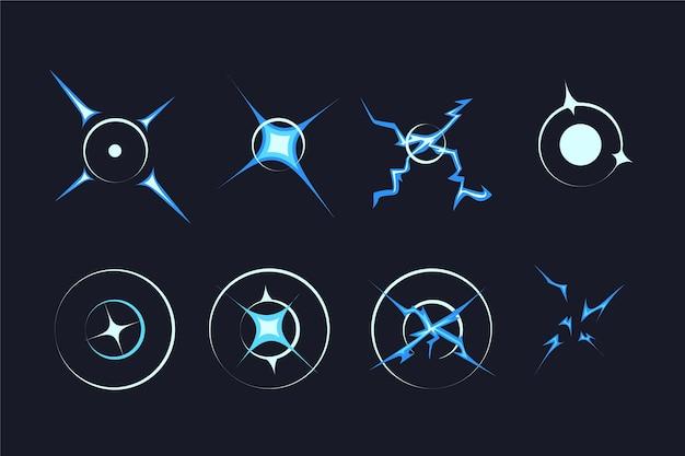 Organiczne płaskie ramki animacji dla elementu