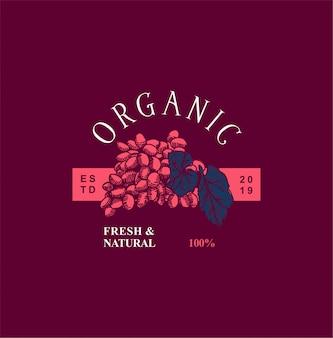 Organiczne ręcznie rysowane rocznika logo