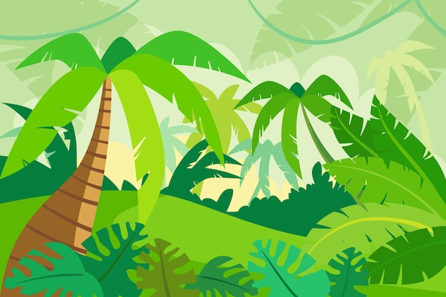 Organiczne tło płaskie dżungli