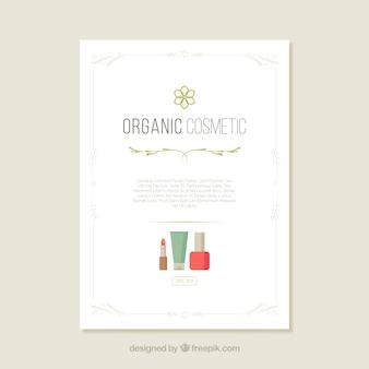 Organiczne ulotki kosmetyczne