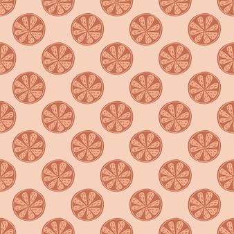 Organiczny bezszwowy wzór z małymi plasterkami pomarańczy