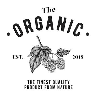Organiczny logo wektor