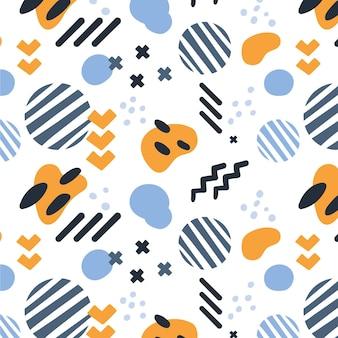 Organiczny płaski abstrakcyjny wzór elementu