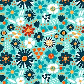 Organiczny płaski wzór streszczenie kwiatowy wzór