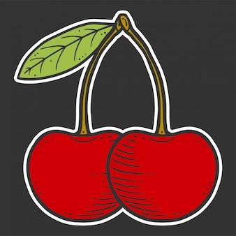 Organiczny świeży wiśniowy bezszwowy wzór