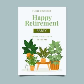 Organiczny szablon karty z pozdrowieniami mieszkanie emerytalne