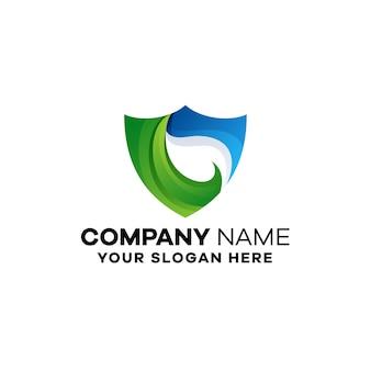 Organiczny szablon logo gradientu