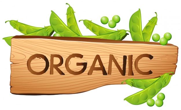 Organiczny znak z zielenią