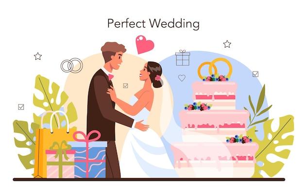 Organizator ślubu. profesjonalny organizator planujący przyjęcie weselne.