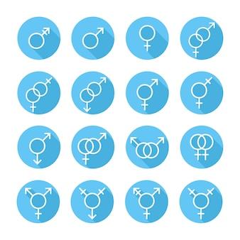 Orientacja seksualna, ikony płci, symbol, znak w mieszkaniu