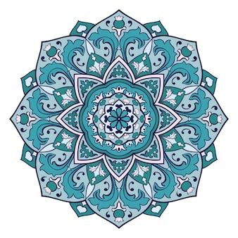 Orientalna mandala. turkusowy ornament.