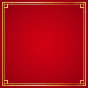 Orientalne chińskie granicy na czerwonym tle