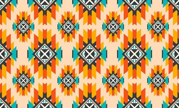 Orientalne etniczne bezszwowe wzór wektor tradycyjne tło projekt dywan, tapeta, odzież, opakowanie, batik, tkanina, styl haftu ilustracji wektorowych.