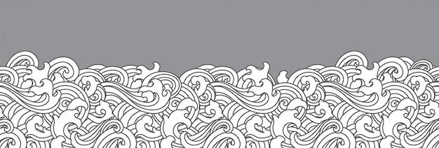 Orientalne ocean fala bezszwowe tło.