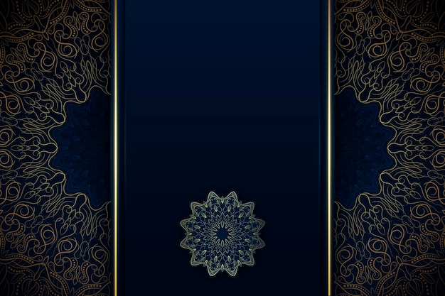 Orientalne tło mandali z pustą przestrzenią