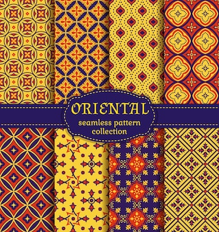 Orientalne wzory bez szwu.