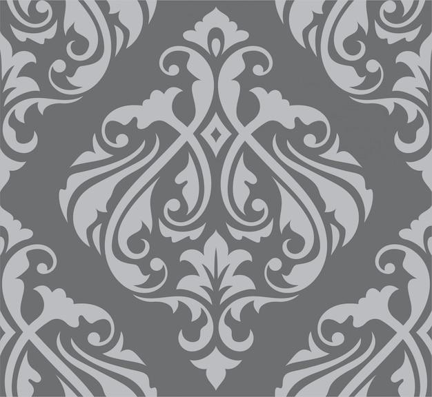 Orientalny bez szwu barokowy wzór