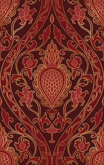 Orientalny bordowy wzór.