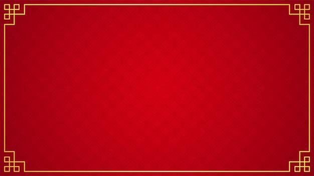 Orientalny chiński ornament granicy na czerwono