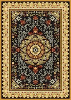 Orientalny perski turecki dywan gotowy do produkcji