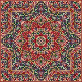 Orientalny wzór. wzór vintage mandali.