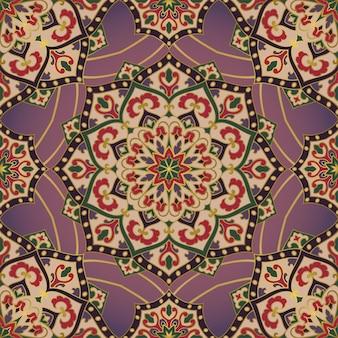 Orientalny wzór z mandalą.