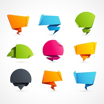 Origami speech bubbles