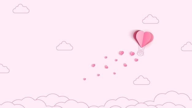 Origami wykonało balon na ogrzane powietrze i chmurę