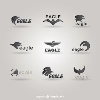 Orły logo szablonu pakiet