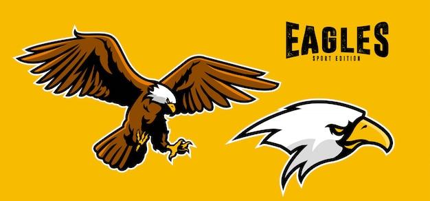 Orły sportowe ikona maskotki