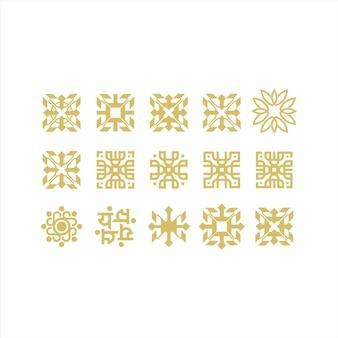 Ornament luxury line art logo design collection