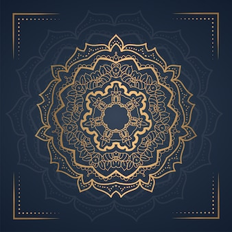 Ornament mandala tło na zaproszenie na ślub