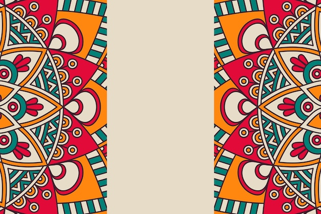 Ornament piękne tło element geometryczny koło wykonane w wektorze