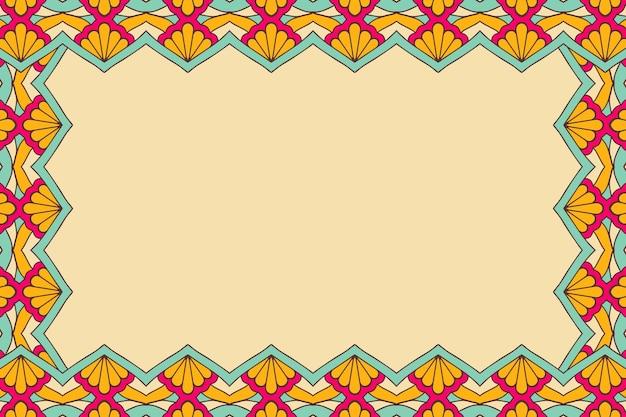 Ornament piękne tło geometric floral frame
