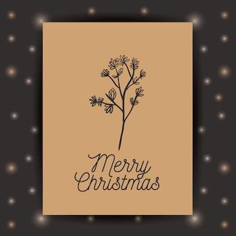 Ornament rustykalny liść i rama ikona