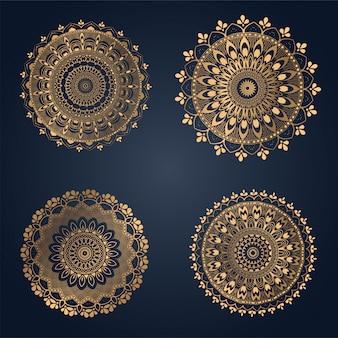 Ornament tło mandali, laserowe cięcie dekoracji