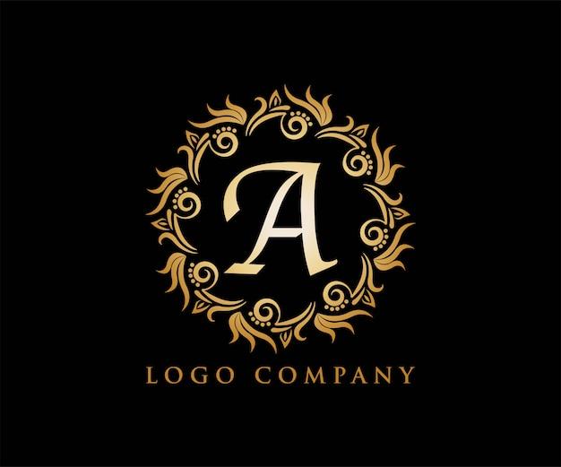 Ornament złoty dla logo jogi