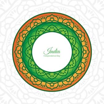 Ornametal plakat dzień niepodległości indii