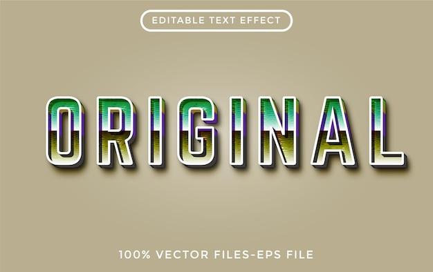 Oryginał - edytowalny efekt tekstowy ilustrator premium wektor