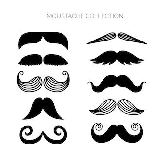 Oryginalna kolekcja wąsów o płaskiej konstrukcji