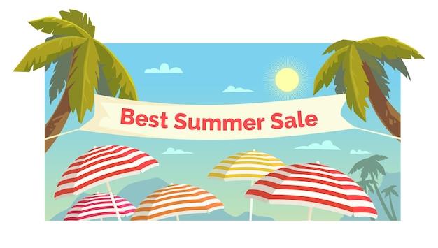 Oryginalna koncepcja sprzedaży z rabatem na plakat. letnia wyprzedaż transparent.