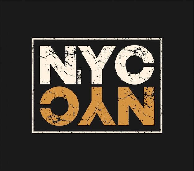 Oryginalna koszulka i odzież nyc z efektem grunge.