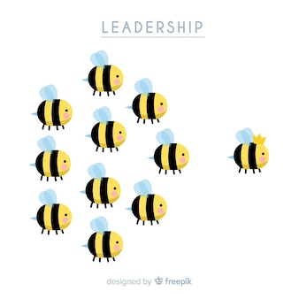 Oryginalna ręcznie rysowana kompozycja przywódcza