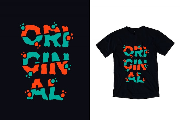 Oryginalna typografia do projektowania koszulek