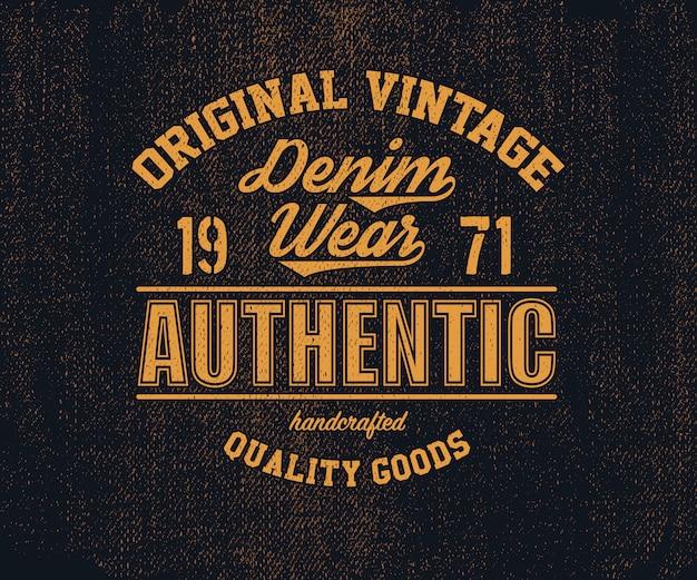Oryginalne logo denim w stylu vintage