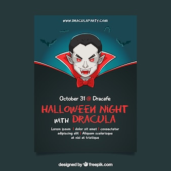 Oryginalny halloween party z wampirem